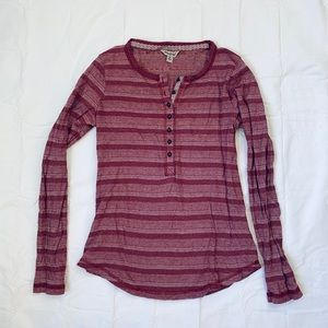 Lucky Brand Long Sleeve Pattern Top